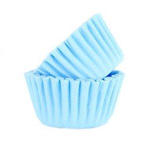 Forma P/ Mini Cupcake Azul Bebe Mago C/ 45 Un.
