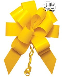 Laço Pronto Flor Grande Amarela Un.