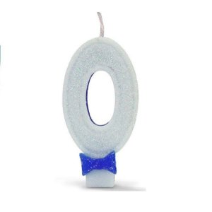 Vela C/ Gliter Nº 0 Azul Regina Un.
