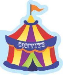 Convite Aniversário Circo C/ 8 Un.