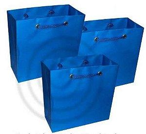 Sacola de Papel Azul (PP) 10X10X4Cm Kaiamba C/ 10 Un.