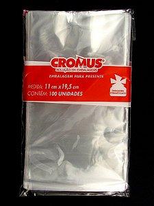 Saco Celofane Incolor 11x19,5Cm Cromus C/ 100 Un.