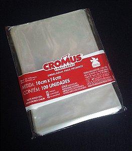 Saco Celof. 10X14Cm Incolor Cromus C/ 100 Un.