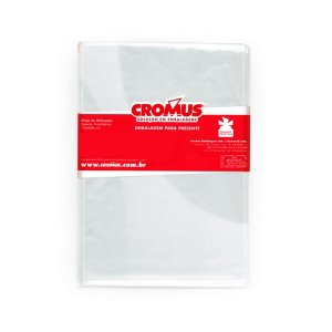 Saco Celofane Incolor 25x37Cm Cromus C/ 100 Un.