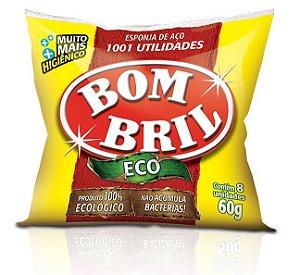 Esponja lã de Aço Bombril C/ 8 Un.
