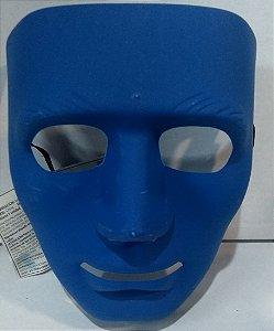 Mascara Unicolor Azul Un.