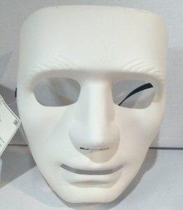 Mascara Unicolor Branca Un.