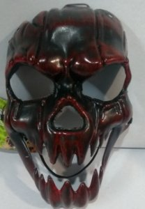 Mascara Plastico Metalizada Caveira Un.