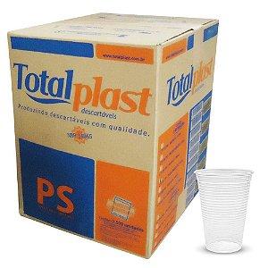 Copo Descartável 180 ml. Transp. Totalplast ABNT Cx C/ 2.500 Un.