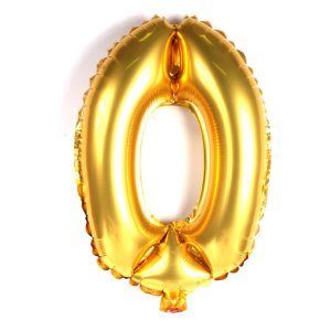 Balão Nº 0 Metalizado dourado Un.