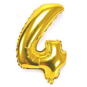 Balão Nº 4 Metalizado dourado Un.