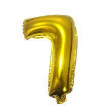 Balão Laminado Nº 7 Dourado C/ 40 Cm