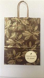 Sacola Papel P/ Chocolate Artesanal M 26X19X9,5 Un.