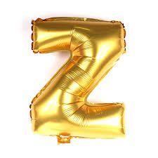 Balão Laminado Letra ''Z'' Dourado C/ 70 Cm