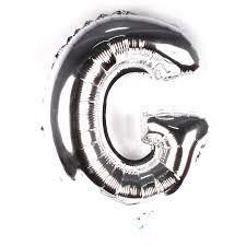 Balão Laminado Letra ''G'' Prata C/ 40 Cm