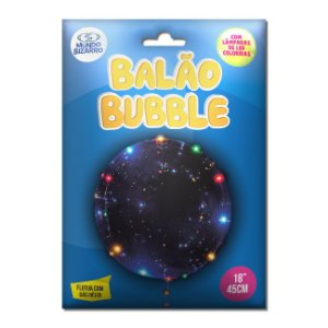 Balão Blubble C/ Led Mundo Bizarro C/ 45 Cm.