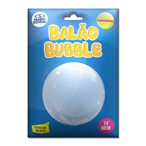 Balão Blubble Transparente Mundo Bizarro C/ 60 Cm.