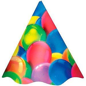 Chapéu Aniversario Balões Regina C/ 8 Un.