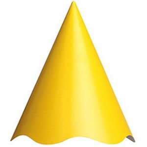 Chapéu Aniversario Amarelo Regina C/ 8 Un.
