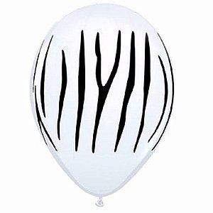 Balão 9.0 Safari Zebra São Roque C/ 25 Un.