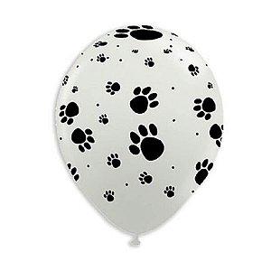 Balão 9.0 Patinhas de Cachorro São Roque C/ 25 Un.