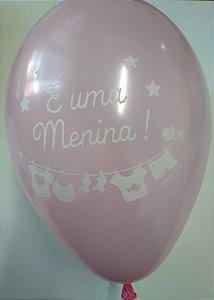 Balão 9.0 Cha Bebe Rosa São Roque C/ 25 Un.