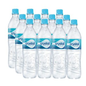 Agua Mineral S/Gas 500 ml Crystal FD C/ 12 un.