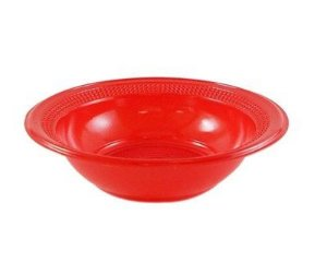 Cumbuca Descart. 12 cm Vermelha Trik cx c/ 100X10 un.