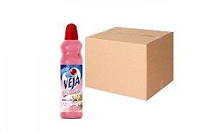 Desinfetante Perfume Flor Suave e Car. Veja Cx C/ 24X500 Ml