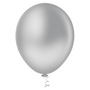 Balão 7,0 Prata Chromium Balloon Tech C/ 20 Un.