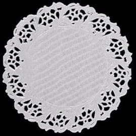 Toalha Papel Rendada Branca 9cm Mago c/24 Un.