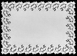 Toalha Papel Rendada Branca 45X31Cm Mago C/ 6 Un.