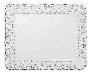 Toalha Papel Rendada Branca 33X27Cm Mago C/ 100 Un.