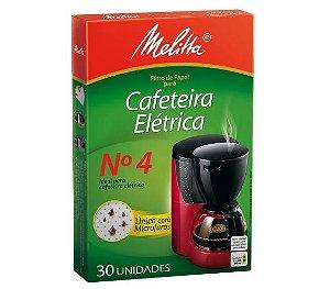 Filtro Café Melitta Nº 4 C/ 30 Un.