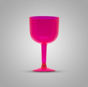 Taça Em Acrilico 500 Ml Gin Rosa Glass Plastilania C/ 4 Un.