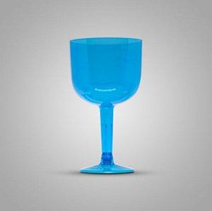 Taça Em Acrilico 500 Ml Gin Azul Glass Plastilania C/ 4 Un.