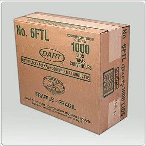 Tampa Copo Térmico 180 Ml (6FTL) Dart Cx C/ 40X25 Un.