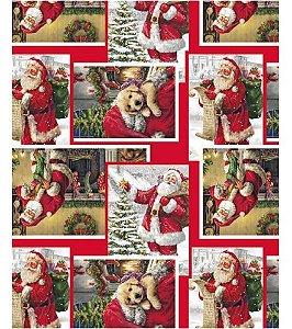 Saco Celofane Papai Noel 35X54Cm Cromus Un.