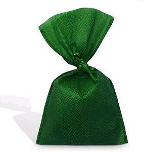 Saco Tnt Verde 50X70Cm Liso C/ Laço Un.