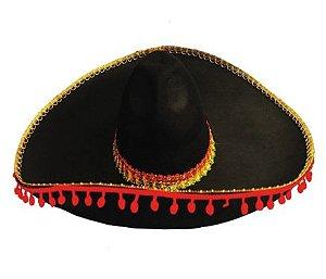 Chapéu Mexicano Bolinha Vermelha Un.