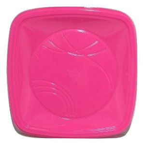 Prato 21 Cm (QD) Pink Trik C/ 10 Un.