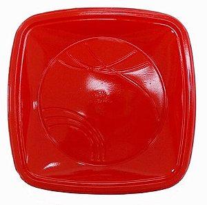 Prato 21 Cm (QD) Vermelho Trik C/ 10 Un.