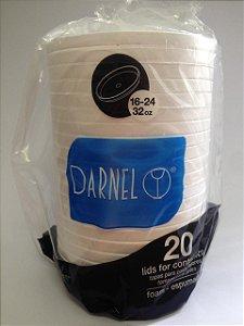 Tampa/Pote Térmico 473Ml 16/24/32oz (32TE) Darnel C/ 20 Un.