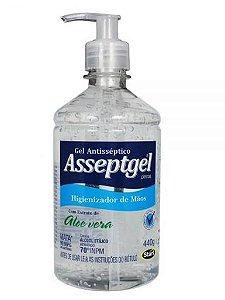 ALCOOL GEL 70º PUMP ASSEPTGEL C/ 420 GR