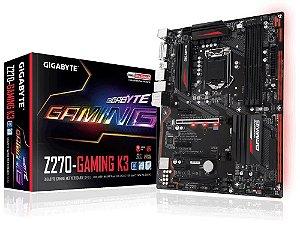 PLACA MÃE GIGABYTE Z270-GAMING K3 DDR4 LGA 1151