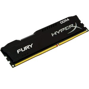 MEMÓRIA KINGSTON HYPERX FURY 8GB 2400MHz DDR4 CL15 Black Series - HX424C15FB2/8