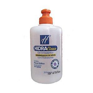 Álcool em Gel 70° Antisséptico Higienizador de Mãos com Hidratante Hidraclean 300ml.