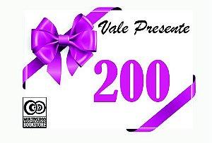 Vale Presente Virtual R$200,00