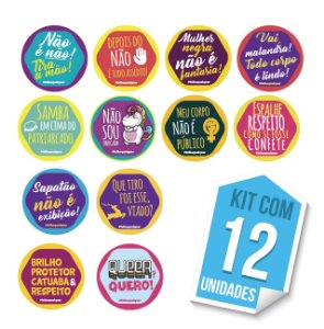 Adesivos Respeito e Lacre - Kit com 12 unidades