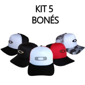 Kit 5 Bonés Oakley Top